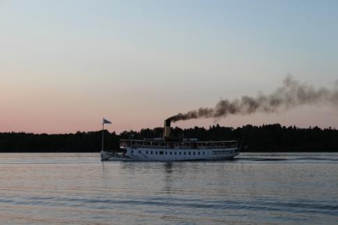 Ångbåten Blidösund på besök